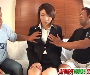 Strong plaything porno for hairy Japanese Mitsu Anno