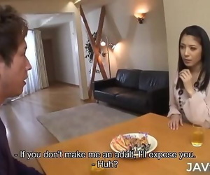 Milf Kana Aizawa smallish her son's friend