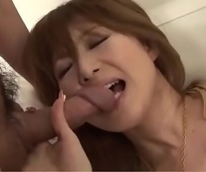 Off the hook blowjob by nasty spit-filled Rika Sakurai