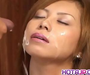 Aya Fujii completes premium fuck play with facialMore at..