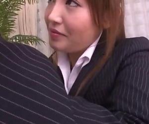 Mami Asakura office ass-munching with her boss