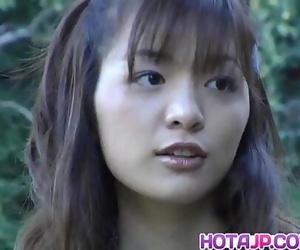 Hijiri Kayama gets doggy and jizz on street