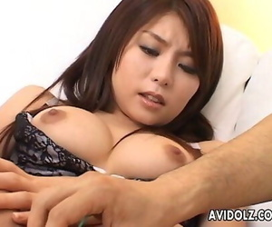 Asian doofy getting her wet beaver played and finger bitchy