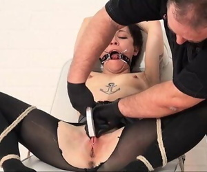 Japanese cunt stapling and extreme dental ball-gagged..