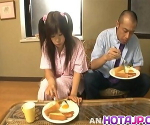 Shino Nakamura gets jism on fucked shaved violate from..