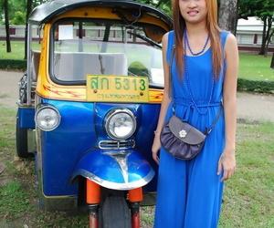 Beautiful Thai lady Mon flirting with a cute male tourist..