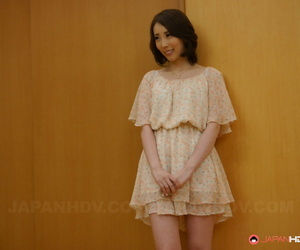 Asian housewife Aya Kisaki gets her pinkish cooter packed..