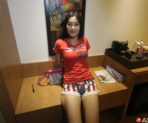 Asian amateur screws a lovemaking tourist in POV mode in..