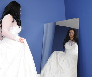 Asian bride to be Mia Lelani has a last sapphic fling with..