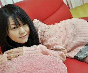 Asian teen Syoko Narita peels off her subjugation and has..