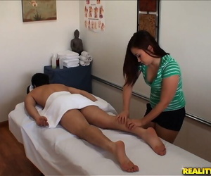 Cute asian lady with small boobs Kita Zen gives a rubdown..