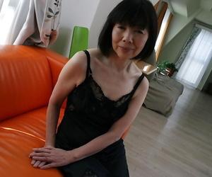 Close up undressing episode features Asian mature Mitsuyo..