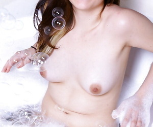 Asian first timer Sailor taking a sexy bouncy tub in..