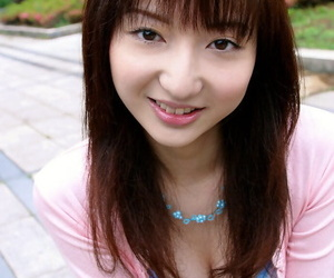 Slutty asian babe revealing her petite arched and unshaven..