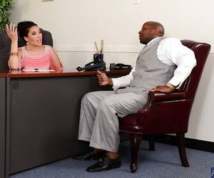 London Keyes love a huge seized shaft inwards of her humid..
