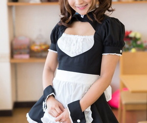 Nice Japanese maid gives her manager a hand job after he..