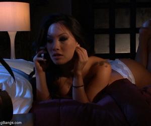 Pumps out Asian pornstar Asa Akira in an interracial..
