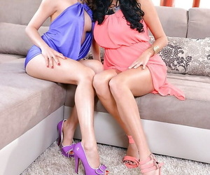 Asian dykes PussyKat and Anissa Kate worshiping each..