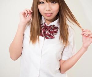 Cute Asian schoolgirl gets power fed hard hard-on for..