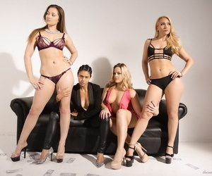 3 lesbians undress for all girl Grind under direction from..