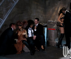 Smoking hot pornstars are into gonzo groupsex with..