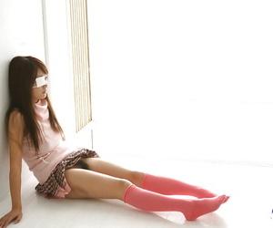 Ultra-kinky asian coed Miho Sonoda showcasing her upbeat..