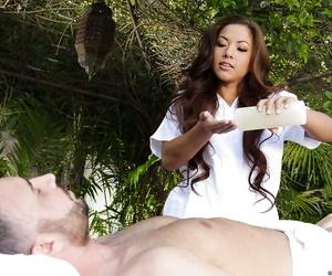 Young Asian ladies Kalina Ryu and Morgan Lee encounter..