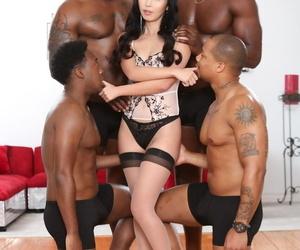 Spills Asian fuckslut Marica Hase enjoying an interracial..