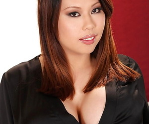 Fatty asian with big tits Tigerr unclothing her taut lush..