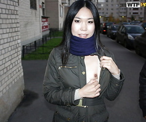 Slim asian inexperienced honey gives a oral pleasure and..