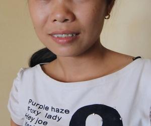 Diminutive Cambodian girl Nap undresses before hook-up..