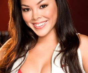 Dark-haired cheerleader named Lynn De La Rosa..
