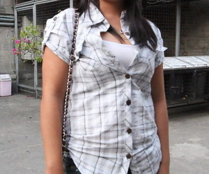 Lovely Asian lady Clittie drops her shorts to demonstrate..