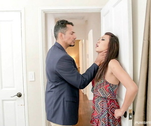 Teen Miko Dai gets cunt-munching nailing and money-shot by..