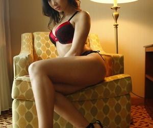 Best Asian Mummy with fat tits Katsuni posing nude in..