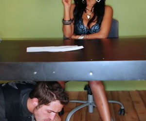 Interracial sole fetish in which ebony haired stunner gets..