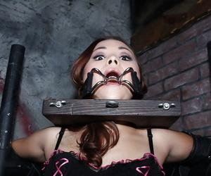 Asian babe Kita Zen gets bukkake after xxx restrain..