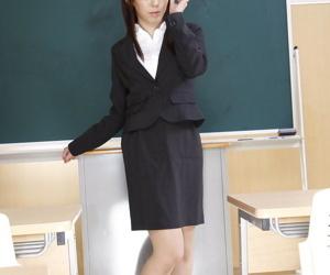 Japanese schoolteacher Maho Sawai dons blindfold and gag..
