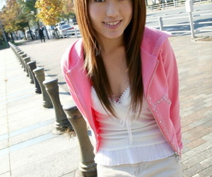 Youthfull Japanese woman Nanami bares her knockers after..