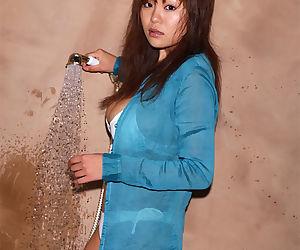 Sexy asian stunner with big tits Yoko Matsugane taking..