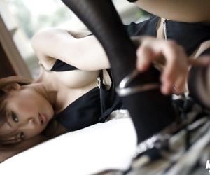 Cool asian honey in underwear Misa Shinozaki uncovering..