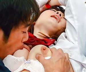 Asian schoolgirl maya kawamura sucking and pounding - part..