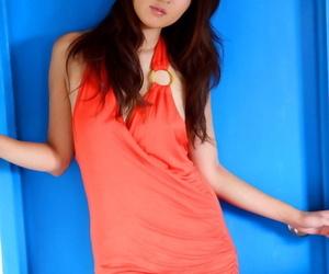 Japanese babe Risa Misaki strikes kinky naked and non..