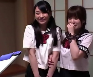 2 Howling Japanese Teens In Uniform Rough Gangbang 48 min
