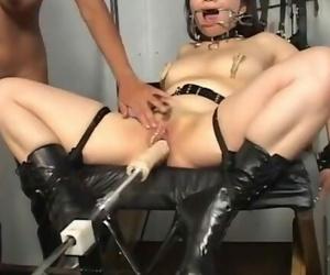 Beautiful Light-haired Bitch Predominates the Fuckslut..