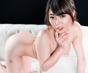 Pretty Japanese woman takes a creampie while railing on..