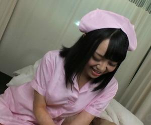 Scorching Asian nurse Yui Nozomi lets a patient fondle her..