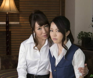 Semi-transparent Japanese mother playing a young lesbian..
