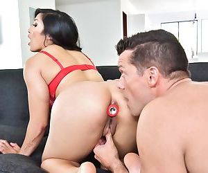 Asian pornstar Mia Li goes ass to mouth during a hardcore..