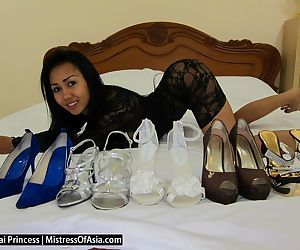 Spoiled Thai Princess models her sexy feet in all her new..